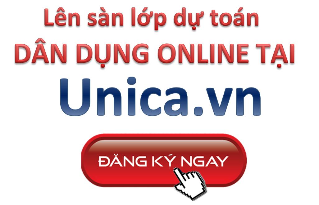 Click đăng ký học dự toán Online tại Unica
